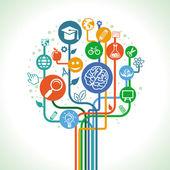 Vector-onderwijs en wetenschap-concept — Stockvector