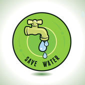 Vector ecology concept - save water — Stock Vector