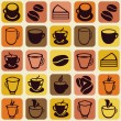 Vector seamless pattern with tea and coffee cups — Stock Vector #26886183