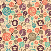 Vector seamless pattern with education icons — Stockvektor