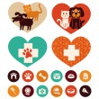 Vector veterinary emblems and signs — Stock Vector #27261913