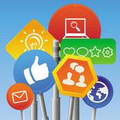 Vector internet marketing concept — Stock Vector