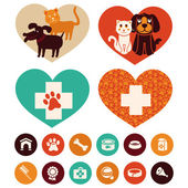 Vector veterinary emblems and signs — Stock Vector