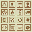 Vector set of package signs and symbols — Vettoriali Stock