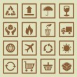 Vector set of package signs and symbols — Stockvectorbeeld