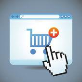 Internet alışveriş kavramı vektör — Stok Vektör