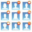 Vector social media icons — Stock Vector #28213257