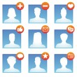 Stock Vector: Vector social media icons