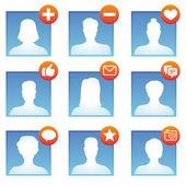 Vector social media icons — Stock Vector