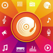 Vector music concept — Stock Vector