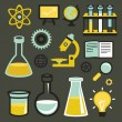 Vector flat icons - science and education — Stock Vector #29798107