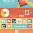 Stock Vector: Vector mobile app infographics in flat style