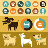 Vector set of infographics elements - dogs — Stock Vector
