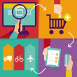 Vector internet shopping infographics — Imagen vectorial