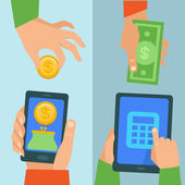 Vector online banking concept — Stock Vector