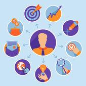 вектор бизнес концепции - запуск инфографики — Cтоковый вектор