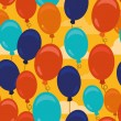 Vector seamless pattern with balloons — Stock vektor