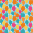Vector seamless pattern with balloons — Stock Vector
