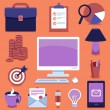 Vector freelance business icons and signs — Image vectorielle