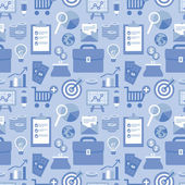 Vector flat seamless pattern with business icons — Stockvektor