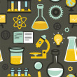 Vector seamless pattern - education and science — Stok Vektör