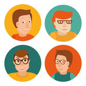 Vector set of avatars in flat style — Stock Vector
