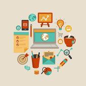 Vector freelance work concept — Stock Vector
