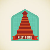 Keep going — Stock Vector