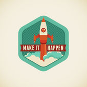 Make it happen — Stock Vector