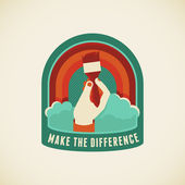 Make the difference — Stock Vector