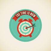 The time is now — Stock Vector