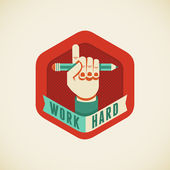 Work hard — Stock Vector