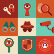 Vector surveillance concepts -icons in flat style — Stock Vector #40620967