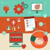 Vector flat employment infographics elements — Stock Vector