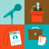Vector conference concepts in flat style — Stock Vector