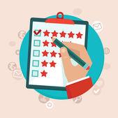 Vektor kund feedback koncept i platt stil — Stockvektor