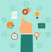 Vector concept - business management — Stock Vector