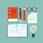 Vektör okuma kavramı — Stok Vektör