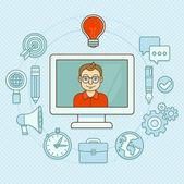 Vector creative manager — Stock Vector