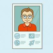 Vector man profile — Stock Vector