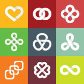 Design vector logo templates - infinity symbols — Stock Vector