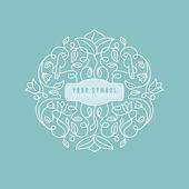 Vector abstract wedding monogram — Stock Vector