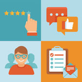 Vector flat customer experience concepts — Stock Vector