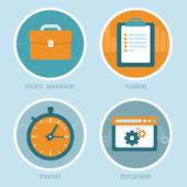 Vector project management concepts in flat style — Stock Vector