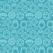 Vector seamless pattern with diamond icons — Stock Vector