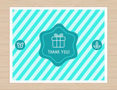 Thank you card in flat style — Vector de stock