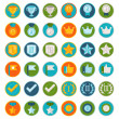 Vector set of 36 flat gamification icons — Stock Vector #49319385
