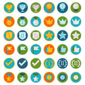 Vector set of 36 flat gamification icons — Stock Vector