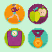 Vector set of fitness icons — Vetorial Stock