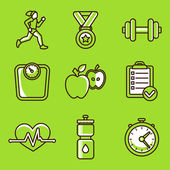 Vector set of fitness icons — Stockvector